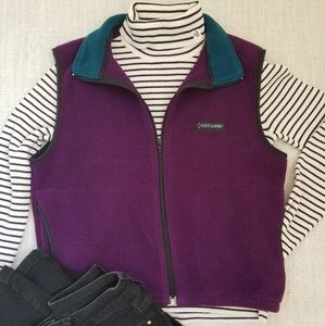 Retro Purple and Aqua Fleece Black Diamond Vest